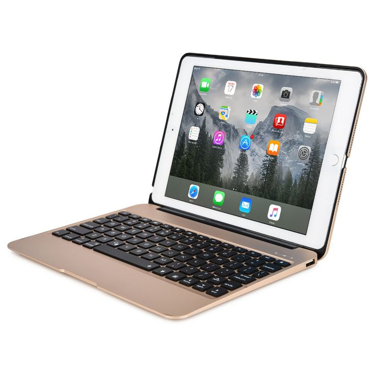 Cooper Kai Skel Backlight Keyboard Clamshell with built-in Power Bank for Apple iPad Air 2 & iPad Mini 4