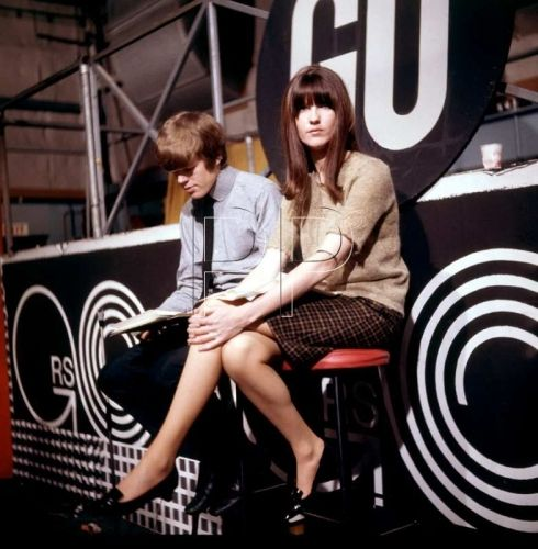 Cathy McGowan and Peter Noone on the set of Ready Steady Go, mid 1960s