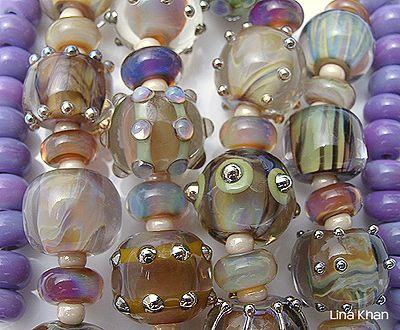 purple rain u2013 gorgeous encased silver glass beads lina khan lampwork beads