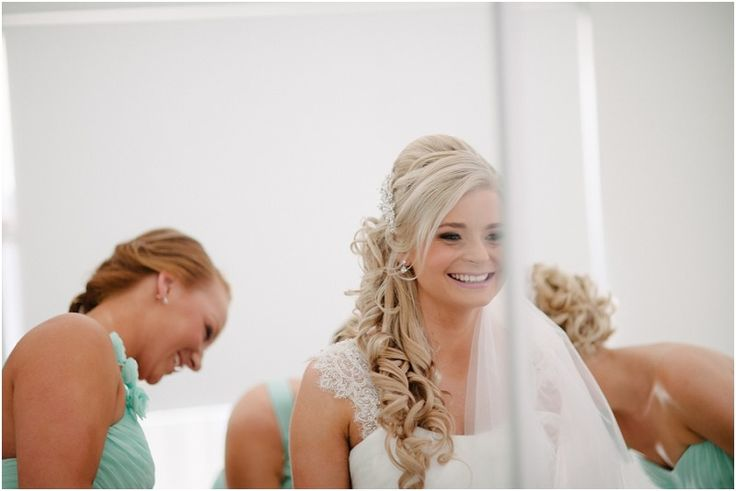 Lovely blond side curls by Total Brides hair & makeup