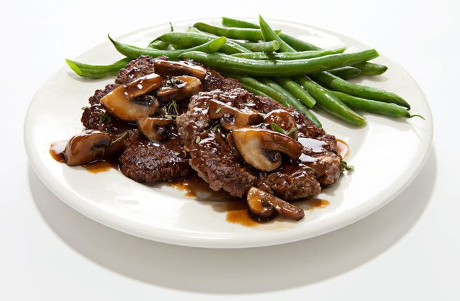 how to cook chopped steak in the oven