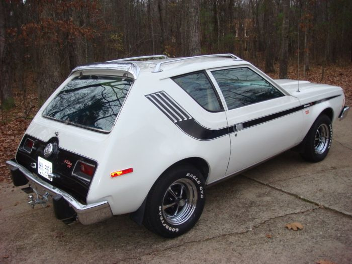 My first car: dad bought me a used Gremlin with Levi interior in 1979