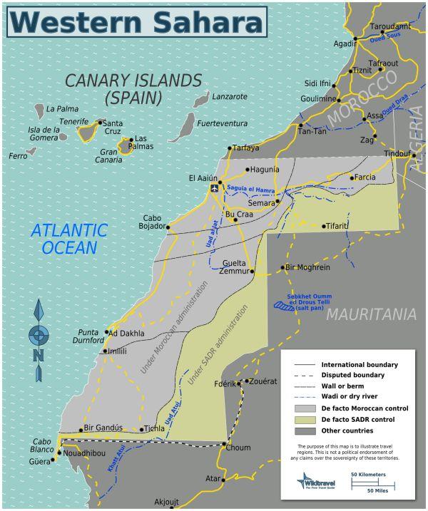 #MAP: Western Sahara