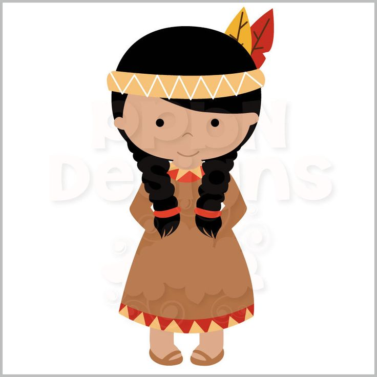 Native American Girls Svg File Paper Dolls