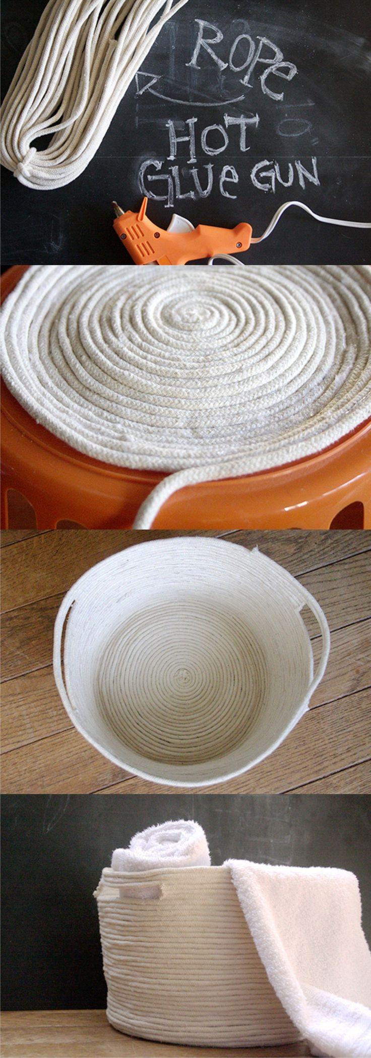 DIY Rope Basket - Cesta DIY con cuerda