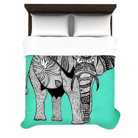 """Pom Graphic Design """"Elephant of Namibia Color"""" Woven Duvet Cover 