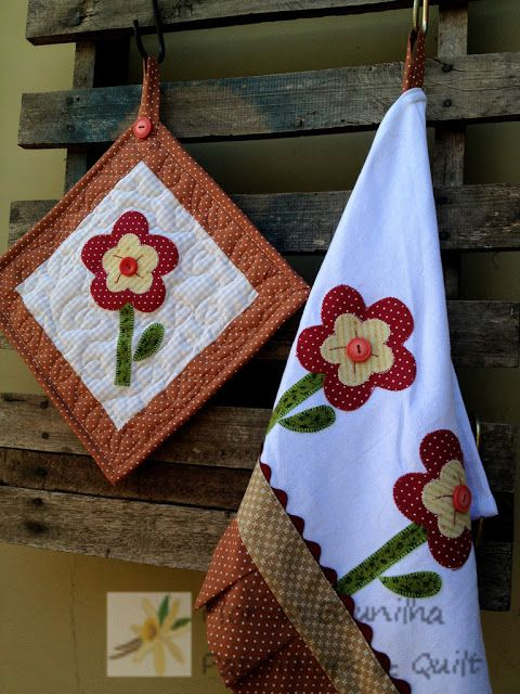 Pano de Prato e Pot Holders