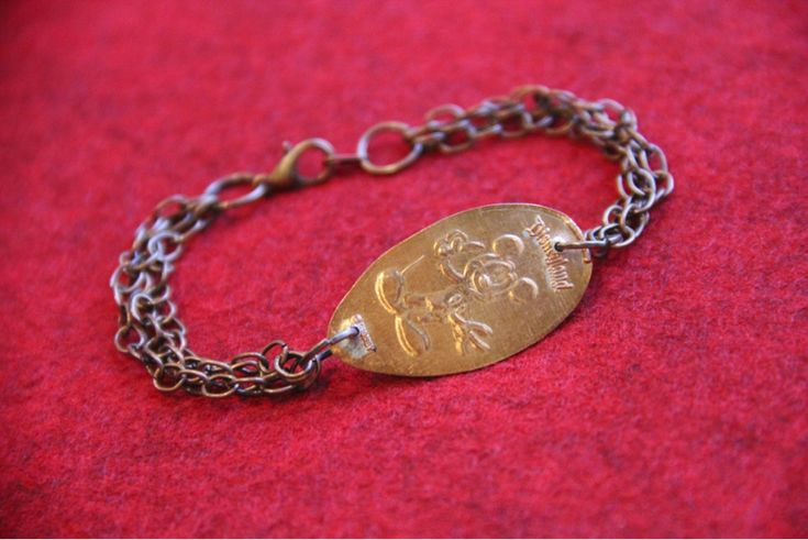Make your own disney pressed penny bracelet penny for Create your own penny