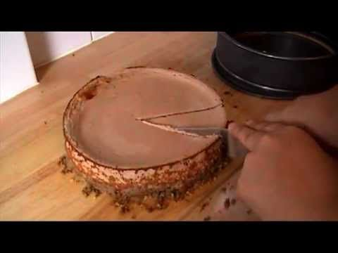 Low Fat Baked Chocolate Cheesecake - follow the recipe - http://loseweightlookfab.com/low-fat-baked-chocolate-cheesecake-2/