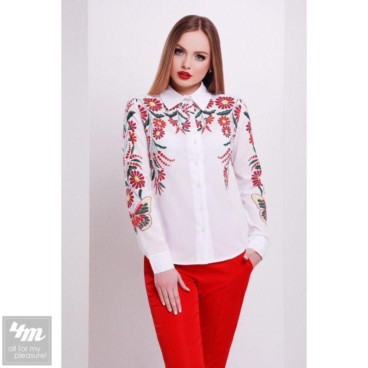 Блуза Glem «Верина-3 Д/Р» (Принт Вышивка-бабочка) http://lnk.al/3NWq  Состав: креп-шифон (100% полиэстер)  #блузы #блуза #блузка #блузки #стильныйобраз #лукдня #мода #вещи #одеждаУкраина #4m #4m.com.ua