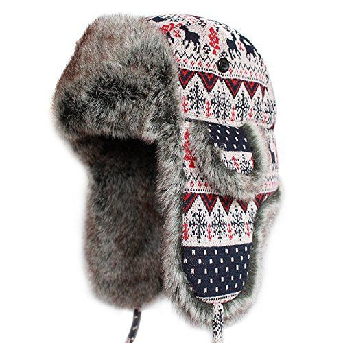 """Trooper Ear Flap Cap Aviator Hat Winter Trapper Trooper Hat Russian Aviator Ushanka Hunting Hat. Unisex faux fur aviator hat.  Give us the warmth. Great accessory for various outdoor activities such as skiing, hiking, jogging, and more       Famous Words of Inspiration...""""It..."""