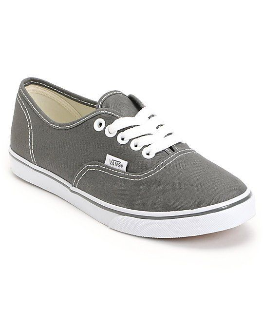 Would love to have these! The Authentic Lo Pro girls shoe is a low profile version of a the classic Vans Authentic skate shoe. The Authentic Lo Pro shoe is a true classic with a lightweight lace up construction, vulcanized super grippy Vans waffle sole, and grey canvas upper.  <br