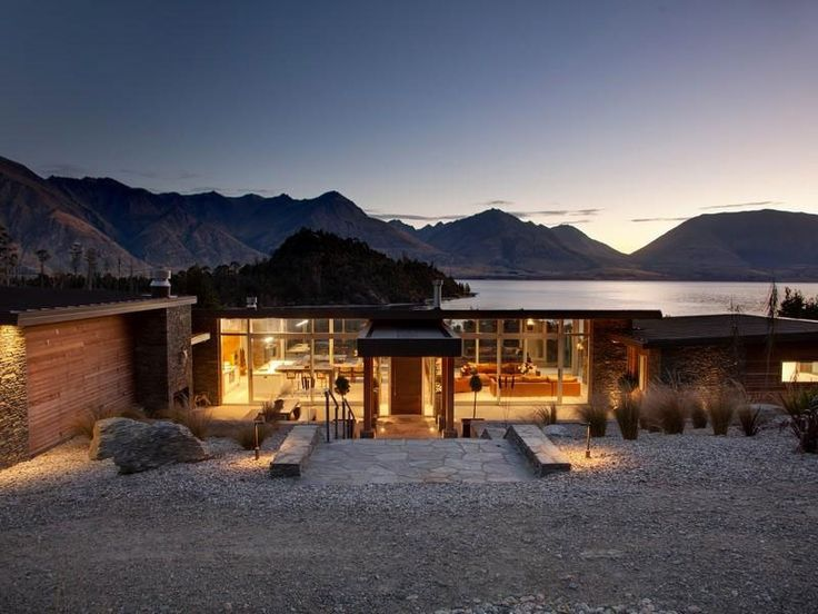 Architectural Lakeside Living in Queenstown - CAANdesign | Architecture and home design blog