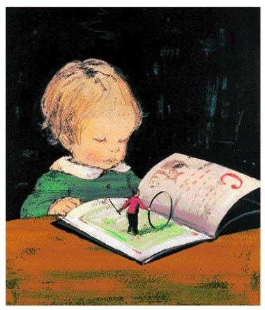 boek uitbeelden, leuk idee