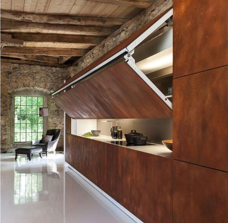 Whoa. A Hidden Kitchen Built Into the Wall — Kitchen Inspiration
