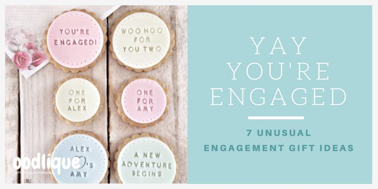 Yay They said YES!!  Gorgeous personalised unusual Engagement gift ideas from oodlique.