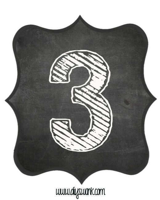 Printable_Chalkboard_ Number_3
