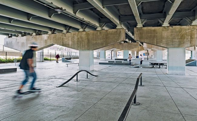 PFS Studio, Underpass Park, Toronto - How can we play and transform to make an undesirable space (the area under a highway) desirable?  How do we turn all city spaces into places for people?