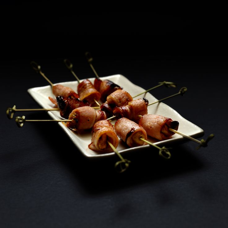 Bacon and fig rolls. These delicious canapes are now available from Lebanese Feast for you cocktail party or pre-dinner drinks.