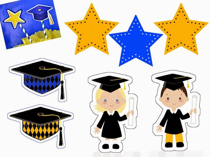 Graduación Infantil: Toppers, Etiquetas y Banderitas para Imprimir Gratis. | Ideas y material gratis para fiestas y celebraciones Oh My Fiesta!