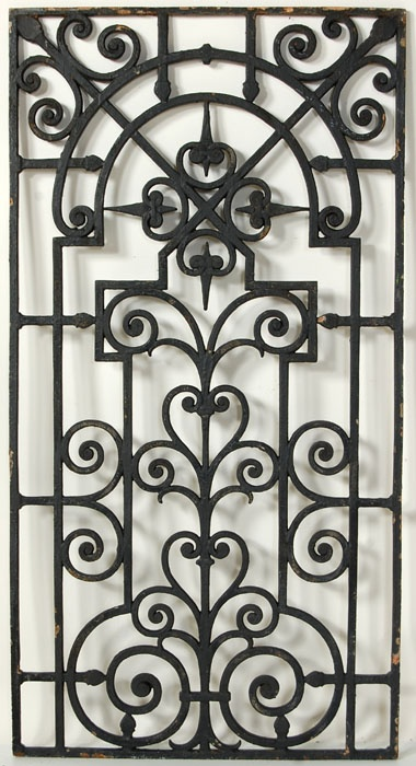 iron panel ~ for inside or outside.  could be tied together as trellis