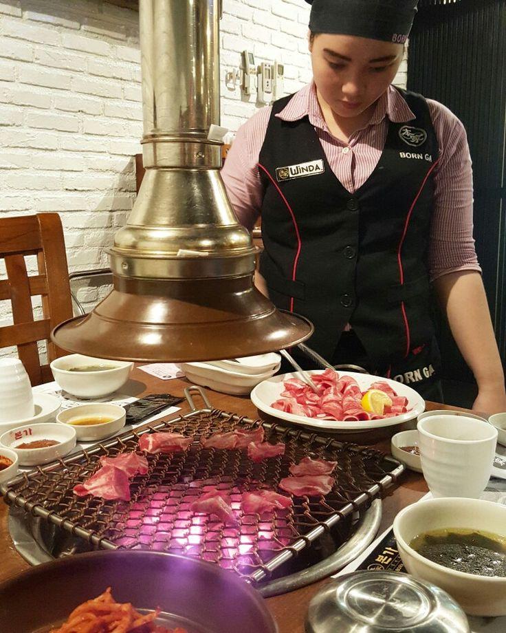 Burn burn burn....hot hot hot... yum yum yum #koreanfood #delicious