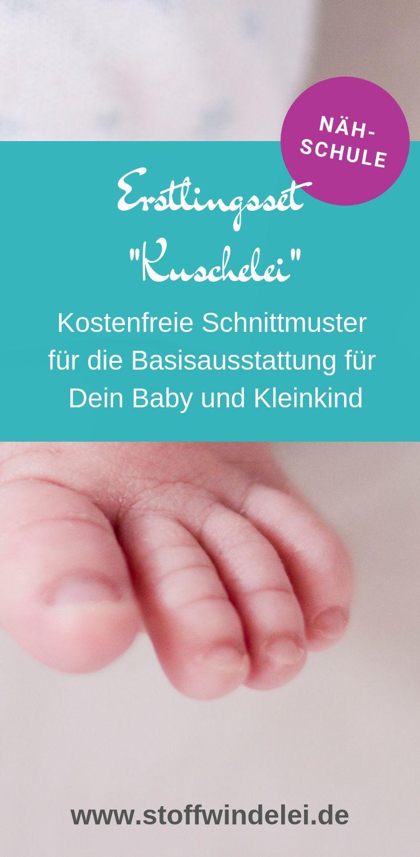 padrão de costura livre e instruções de costura conjunto pela primeira vez fofinho   – Schnittmuster Baby- und Kinderkleidung