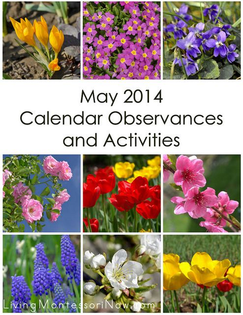 LOTS of ideas for calendar observances and themed Montessori-inspired activities throughout May
