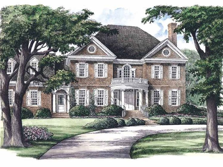 Georgian House Plan With 3951 Square Feet And 5 Bedrooms S
