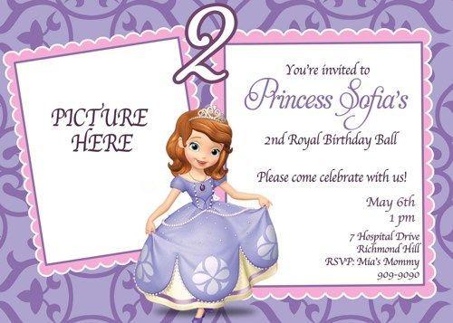 The 25 best Princess sofia invitations ideas on Pinterest