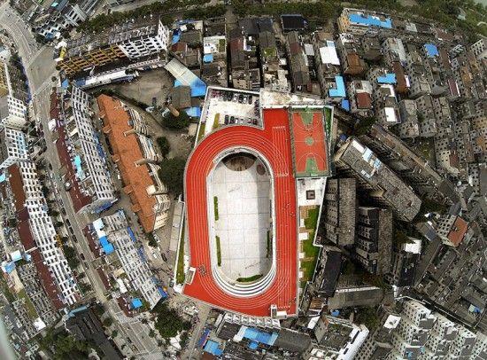 une piste dathlétisme sur le toit de lécole   une piste d athletisme sur le toit d une ecole en chine 4