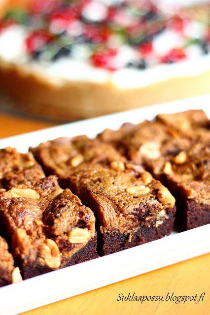 Suklaapossu: Maapähkinävoi-brownies
