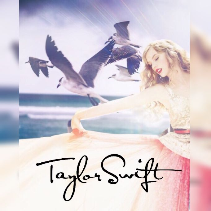Made by me Beautiful Taylor swift wallpaper/album cover in pastel
