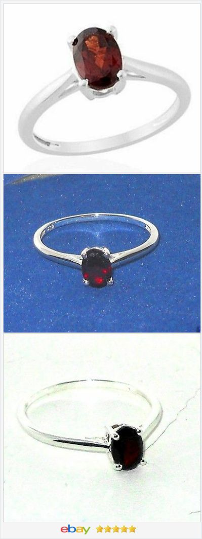 Red Garnet Solitaire Ring size 7 Sterling USA Seller #ebay http://stores.ebay.com/JEWELRY-AND-GIFTS-BY-ALICE-AND-ANN #auction