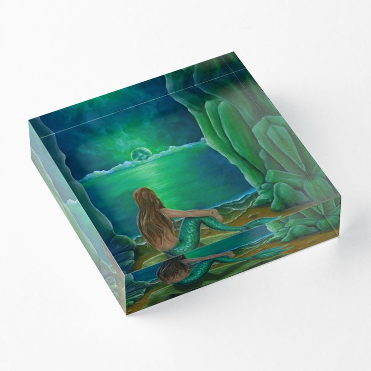 acrylic block, home,office,accessories,decor,ideas,mermaid,fantasy,green,items,design,cool,beautiful,fancy,unique,trendy,artistic,awesome,fahionable,unusual,gifts,presents,ideas,for sale,redbubble