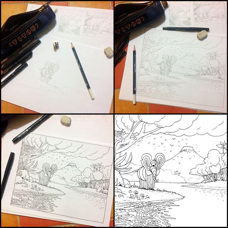 Nouveau dessin à colorier à télécharger gratuitement sur http://www.vincentdufour.com/fr/807-coloriage-gratuit-n23-elephant-la-zenitude.html Qui dit nouveau coloriage, dit bientôt un nouveau tableau du monde de Titou. Bon coloriage à tous et à toutes !!!