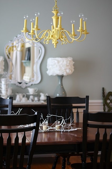 Best 25 yellow chandelier ideas on pinterest teal rooms yellow chandelier for dining room cant decide yellow or red aloadofball Gallery