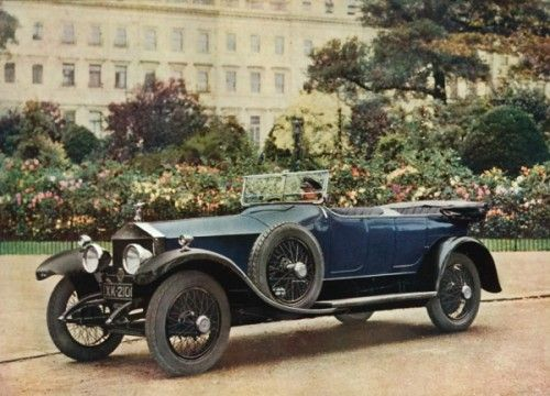 [ROLLS ROYCE] Six cylinder Coupe  Original photo-lithograph, printed by Blades & East & Blades Ltd., London, 1922. #car #motoring #vintage