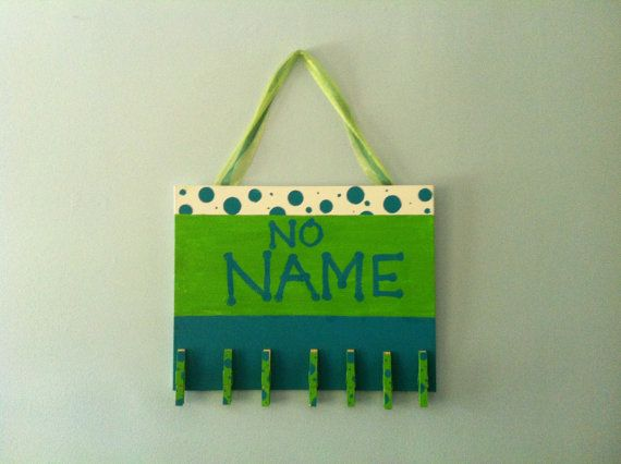 The No Name Board. need to make one of these for my classroom!