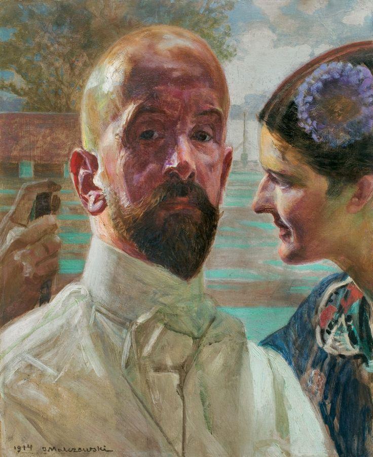 Jacek Malczewski - Self portrait with a Muse