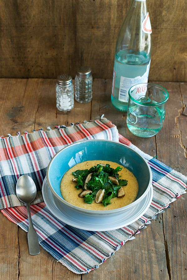 Robin Robertson's Grits and Greens with Smoky Mushrooms - Chic Vegan