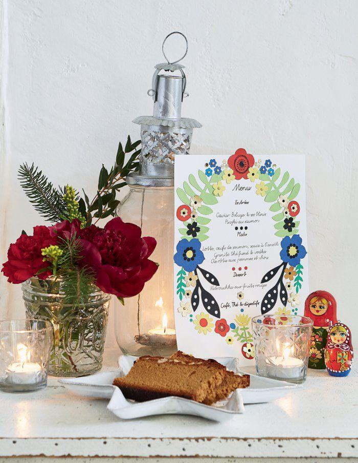 Décoration de Noël : Un menu en papiers découpés pour une table de fête - Maire Claire Idées
