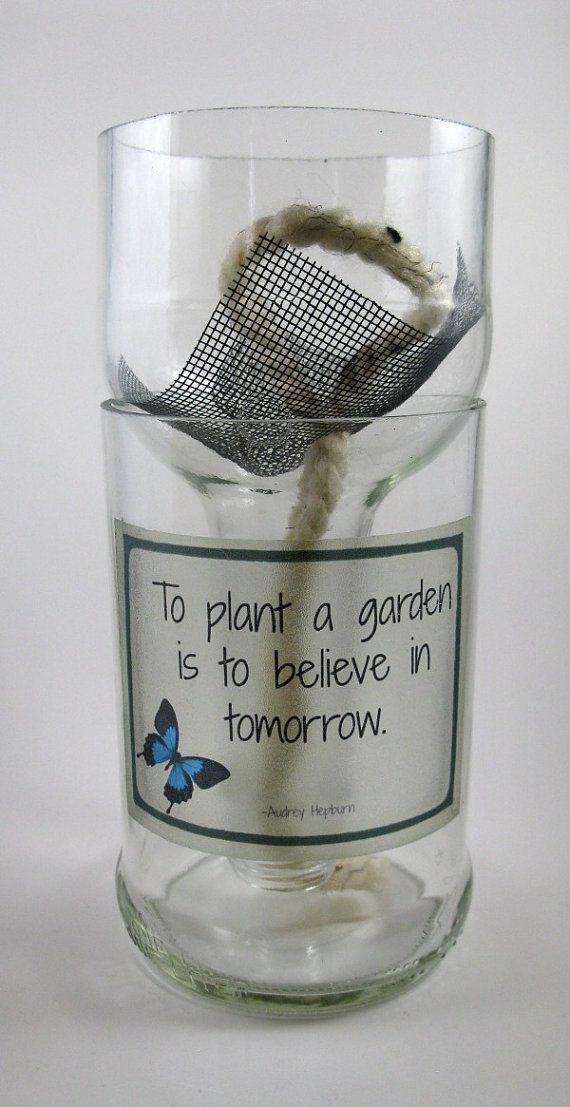 Self-Watering Planter Bottle  Recycled by PurposefulRepurpose