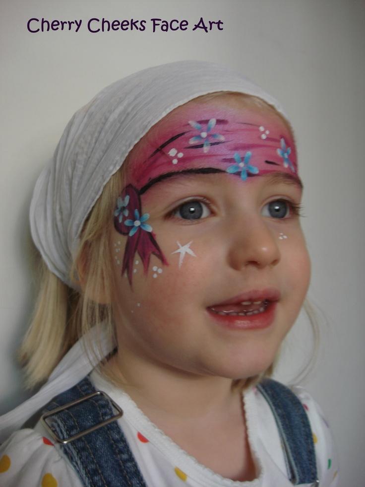 girly pirate - Cherry Cheeks Face Art