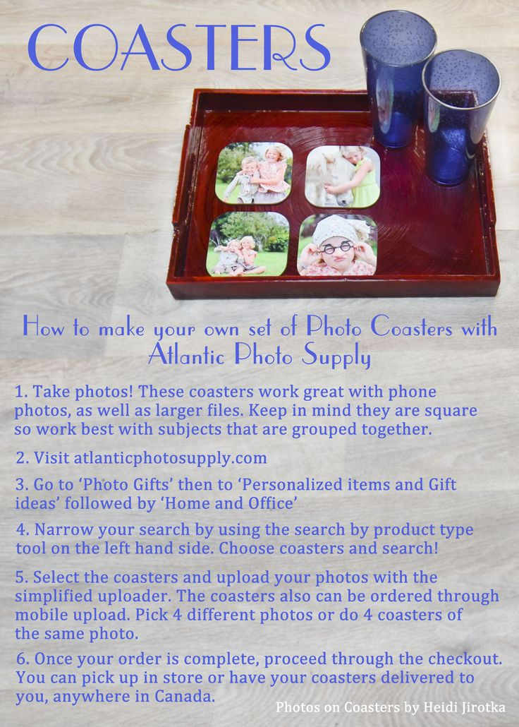 A quick and easy summer gift idea! Photo Coasters: An Atlantic Photo Supply How To