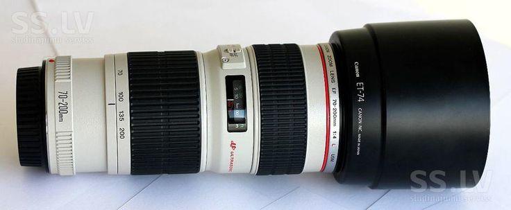 SS.lv Foto un optika - Objektīvi, Cena 355 €. Продаю объектив canon ef 70-200mm f/4l состоянии. фильтр комплекте - Sludinājumi