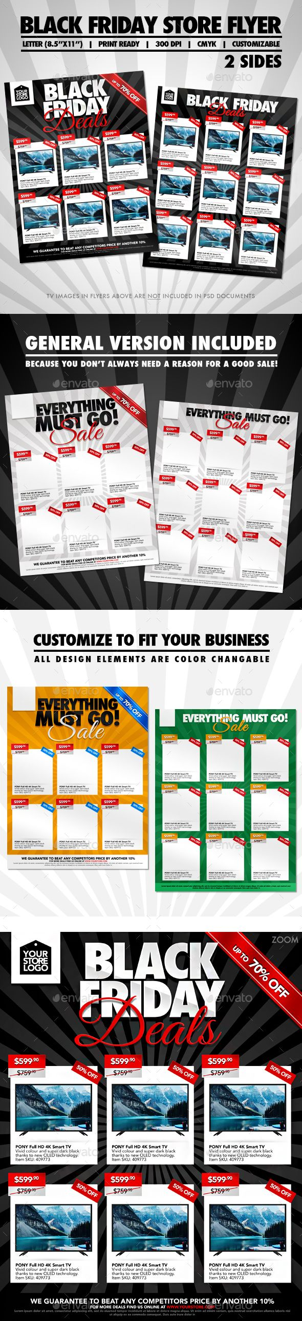 Black Friday Two Sided Store #Flyer - Commerce Flyers