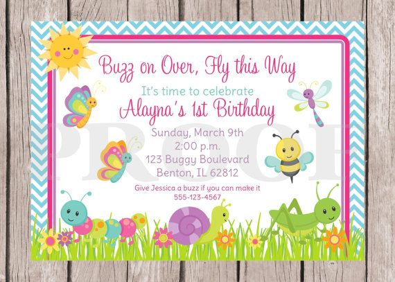 16 best Animal and Bug Themed Invitations images – Insect Birthday Invitations