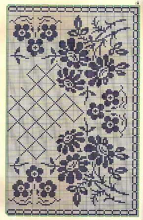 Tablecloth with flowers