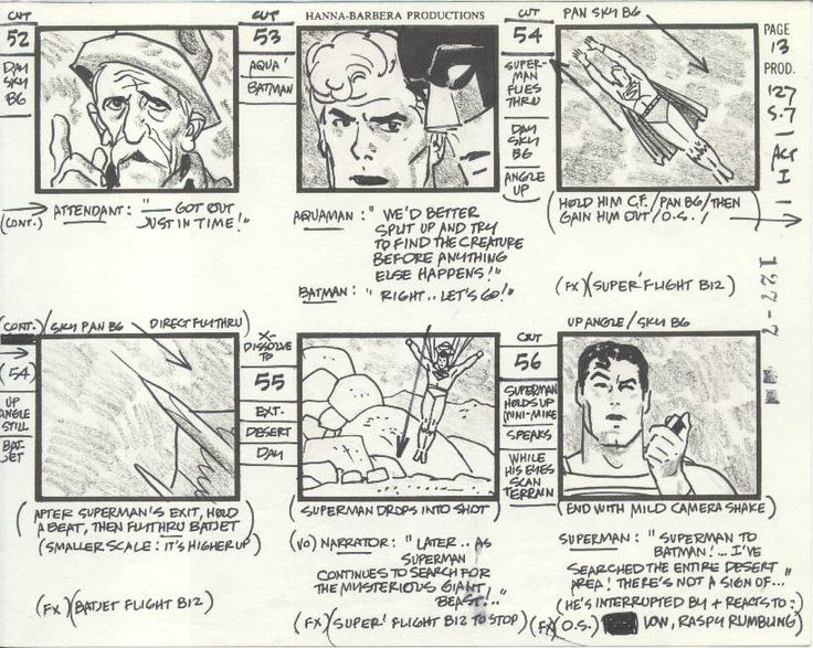 Storyboard I Like This Storyboard Because It Is Very Detailed As To